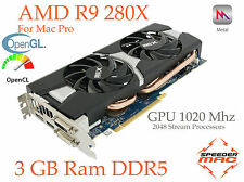 R9 280X pour Apple Mac Pro,  3GB Ram ,GPU 1020Mhz,4k, 5 Gt/s, As HD 7970/7950