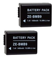 Two 2 BP-DC9 BP-DC9E BP-DC9U Batteries for Leica V-LUX 2 V-LUX 3 Digital Camera