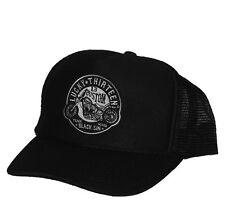 Lucky 13 Black Sin snapback hat cap Foam Mesh hot rod drag race motorcycle
