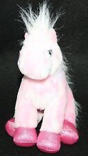 "8"" PINK WITH SHADE BLUE HORSE PONY GANZ WEBKINZ Plush Stuffed Toy pink blue"
