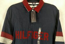 NWT Tommy Hilfiger Size L Spell Out Rugby Long Sleeve Polo Shirt Classic Fit