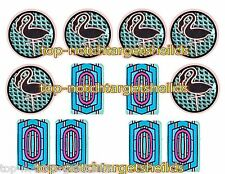 Hollywood Heat - CUSHIONED TARGET ARMOUR PINBALL DECALS + (6) DROP TARGETS