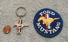 25th ANNIVERSARY SET - 1989 - 1990 FORD MUSTANG DEALER KEYCHAIN & PATCH ORIGINAL