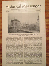 1947 Milwaukee County Historical Society 2nd Courthouse Grew Out of 1st One