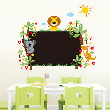 Animals Kids Blackboard Waterproof Vinyl Art Home Decals Wall Stickers Removable