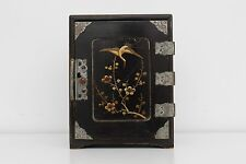 Beautiful Antique Japanese Black Lacquer Table Top Tansu Cabinet /Jewellery Box