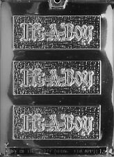 IT'S A BOY BAR mold Chocolate Candy cupcake toppers party favor baby shower