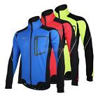 Fleece Thermal Winter Cycling Long Sleeve Jersey Bicycle Bike Windproof Jacket