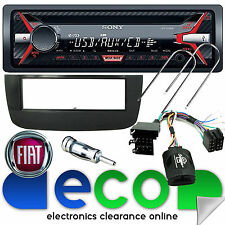 Fiat Punto Evo Sony Auto Stereo Cd Mp3 Usb & interfaz de volante Kit Black
