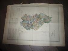 TRES GRANDE CARTE DU JURA 1860 PAR DUFOUR 89 X 65 CENTIMETRES