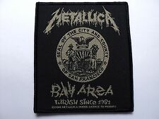 METALLICA bay area thrash since 1981 WOVEN  PATCH