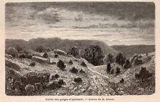 GORGES D APREMONT FORET FONTAINEBLEAU  IMAGE 1867 ENGRAVING