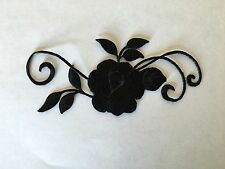 Sew on & iron on  patches(Small rose vine-black)