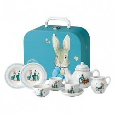 NEW WEDGWOOD PETER RABBIT CHILDREN'S TEA SET BEATRIX BNIB #40001418 SAVE$ F/SH