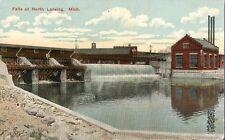 Postcard Michigan MI Falls at North Lansing  c1907-15