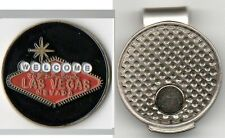 """Welcome To Fabulous Las Vegas Nevada 1"""" Golf Ball Marker & Hat Clip"""