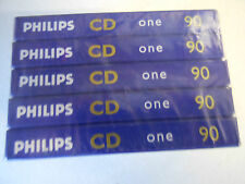 PHILIPS  cassette tapes sealed in pack of five TYPE I tapes made in Australia