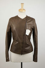NWT BRUNELLO CUCINELLI Woman's Brown Leather Jacket Size 6/42 $5495