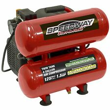 Speedway 4 Gallon Portable Electric Twin Stack Oil Lube Air Compressor