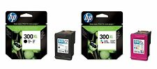 2 X ORIGINAL 2017 DATED HP 300XL BLACK + HP 300XL COLOUR CARTRIDGES FAST POSTAGE