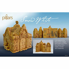 Disney Snow White & Seven Dwarfs Cottage Pillars 9 pc Figurine Set