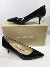 Michael Kors MK Flex Kitten Pump Women's Size 8.5 Black Patent Shoes X1-433