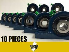 "(10 PIECES) 1/2"" Pillow Block Bearing, UCP201-8 Solid Foot P201"