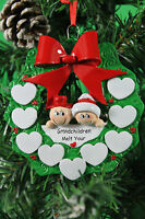 PERSONALISED CHRISTMAS TREE DECORATION ORNAMENT SNOW GRANDPARENTS