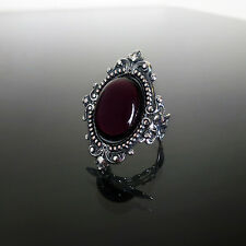 Victorian gothic ring Amethyst purple filigree silver steampunk wedding SINISTRA