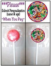 24 Candyland Birthday Party Baby Shower Lollipop Sticker Invitation Seal Favors