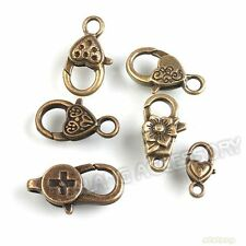 90pcs Lots Charms Mixed Vintage Bronze Alloy Lobster Clasps Findings Wholesale C