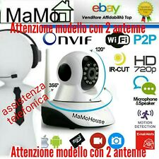 TELECAMERA IP CAMERA HD 720P WIRELESS LED IR LAN SUPPORTO TELEFONICO PER INSTALL
