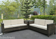 Corner Rattan Sofa Set Garden Furniture Conservatory Wicker Outdoor 3+3+Corner