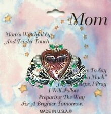 MOM Brooch Pin, MOTHERS GROW LOVE Script, Silver Plated, Mother's Day Gift, NEW