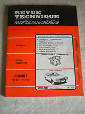 Revue tecnica automobilistica no320 RENAULT 17tl, 17ts Workshop francese stile 1973