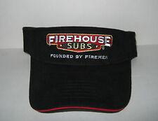 New Firehouse Subs Restaurant Visor Hat Advertising Founded by Firemen Black