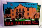 San Antonio Texas Vintage Style Travel Decal / Vinyl Sticker, Luggage Label