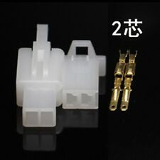 10sets 2.8mm Electrical wire Connector 2P Male Female Motorcycle terminal plug