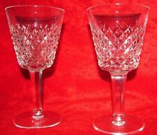 """PAIR (2 GLASSES) OF 7"""" WATERFORD ALANA WATER GOBLETS"""