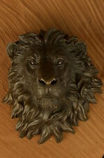 Office/Home decor bronze sculpture Animal Signed Original Large Wall Mount Lion