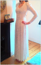 1940's utility wedding dress vintage Sally Slade of Regent Street size 8-10