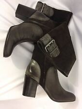 CALVIN KLEIN JEANS GEMMA WOMEN'S BROWN SUEDE LEATHER TALL BOOTS SZ 8M