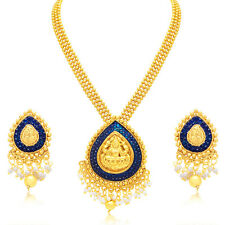 Sukkhi Trendy Laxmi Temple Gold Plated Necklace Set For Women(3189NGLDPP950)