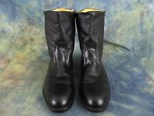 Vintage Women's Bronson Black Leather Insulated Slip-on Shoes Size 11 C