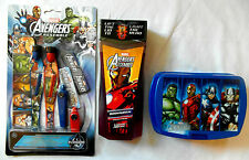 Marvel Avengers Assemble - 3pc Gift Set - Bodywash, Lunchbox, Slingshot Gliders