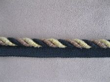 """DECORATIVE 1/2 """"ROPE CORDING TRIM WITH LIP  MULTI COLOR BY THE YARD"""