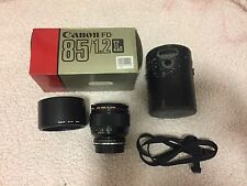 Canon 85mm F/1.2L FD mount Converted To EF Includes All Original Accessories