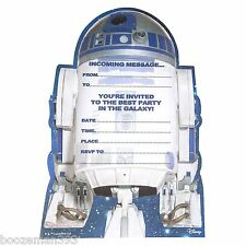STAR WARS R2-D2 20 PACK CHILDRENS PARTY INVITATIONS /KIDS INVITES WITH ENVELOPES