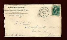 PH 17 Bank Note 3c Target Canc. Cover Adv. A.A.Gould & Co. Foreign & Dom. Fruits