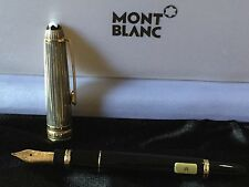 MONTBLANC MEISTERSTUCK 925 Black & Sterling Silver Fountain Pen - M NIB